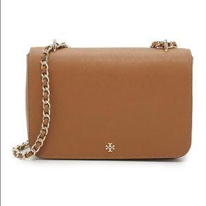 Tory Burch Leather Adjustable Chain Crossbody Bag